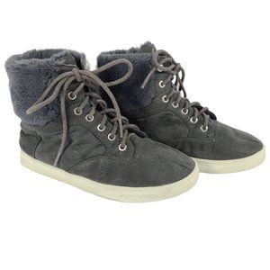 JUSTICE Blue High Top Faux Fur Trimmed Sneakers 4